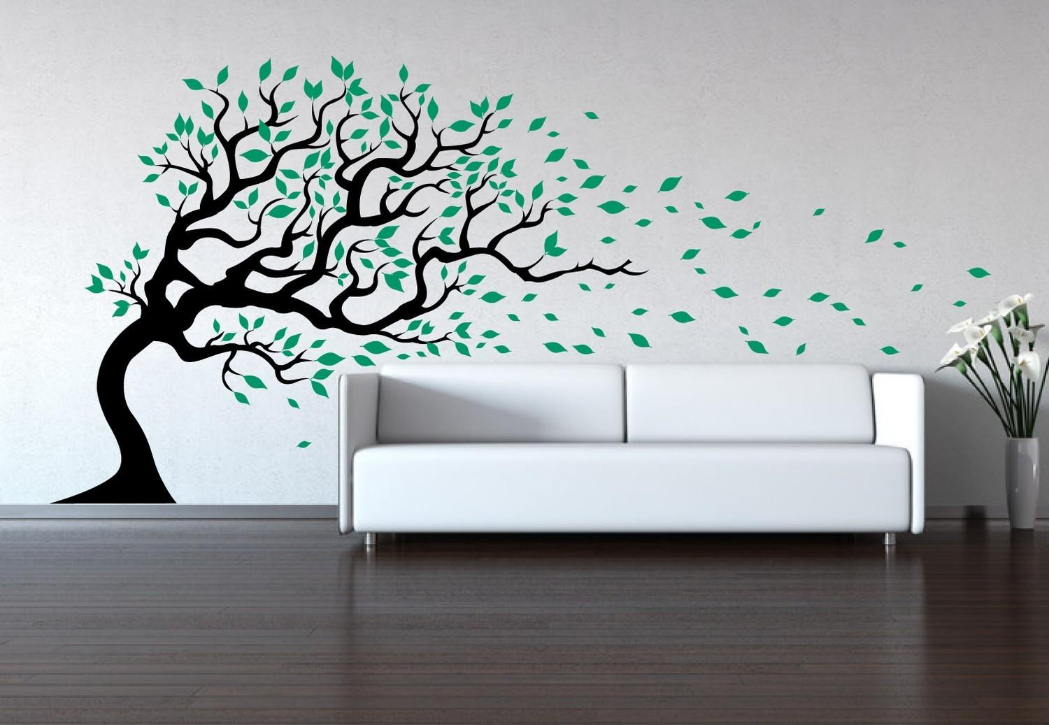 Tree Wall Decal Wind Blowing Sticker Baby
