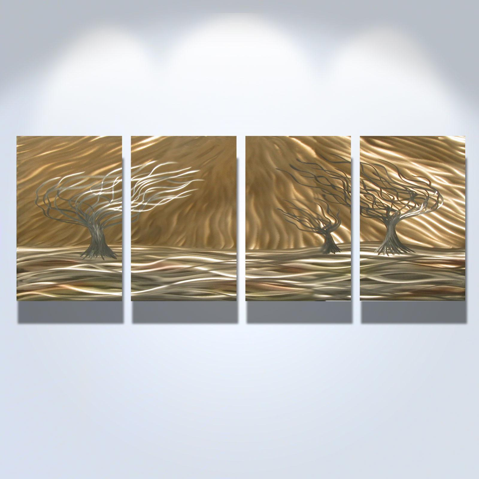 Trees Panel Abstract Metal Wall Art Contemporary