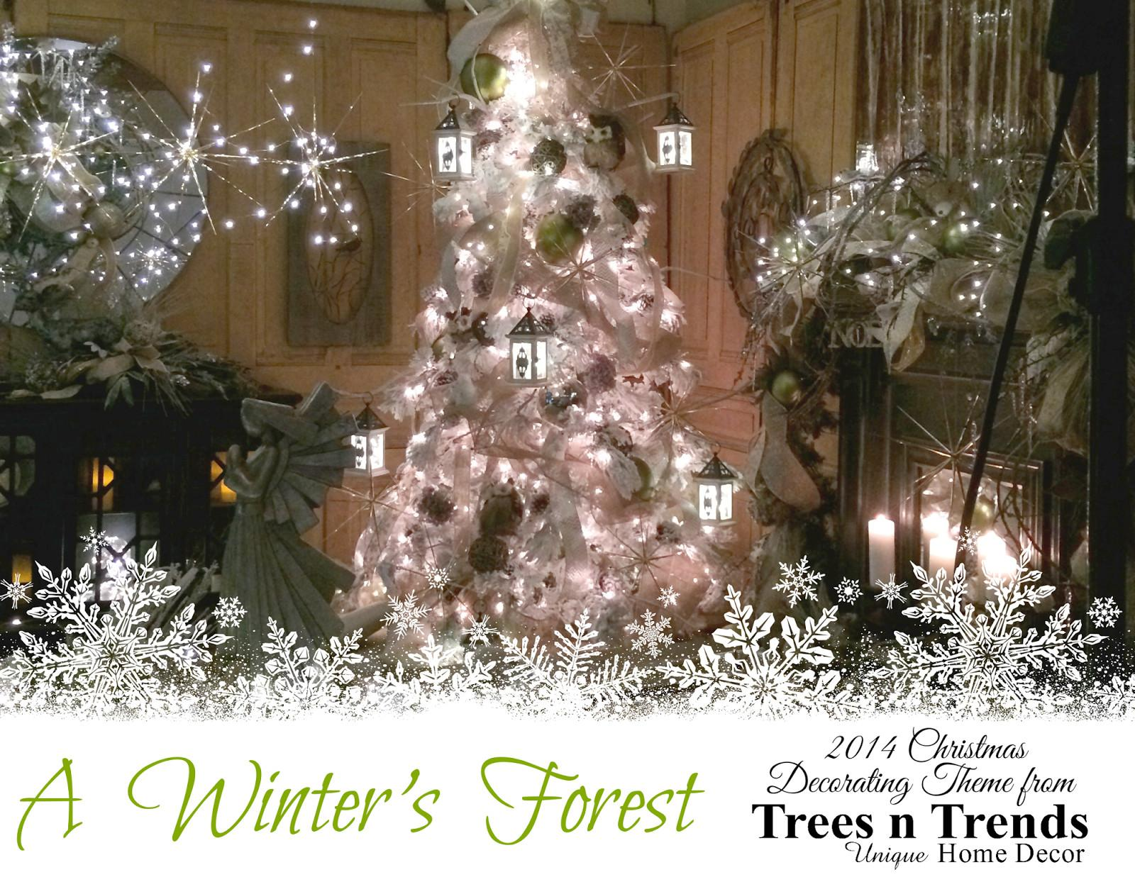 Trees Trends Winter Forest Snowy Christmas