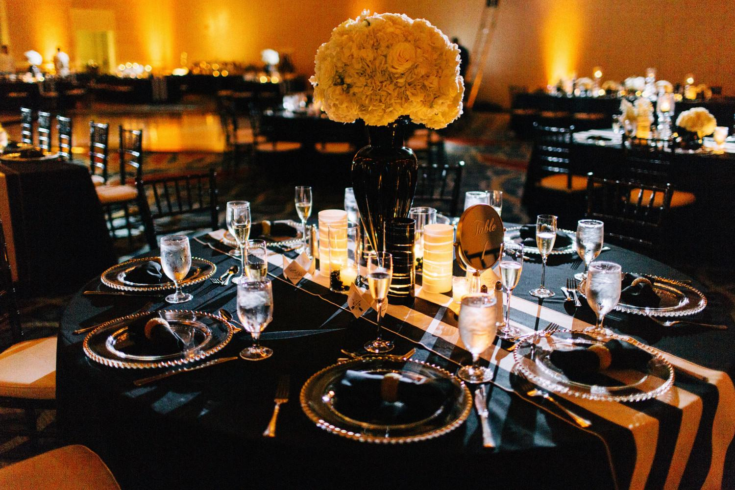 Trend Black Gold Table Decorations Furniture
