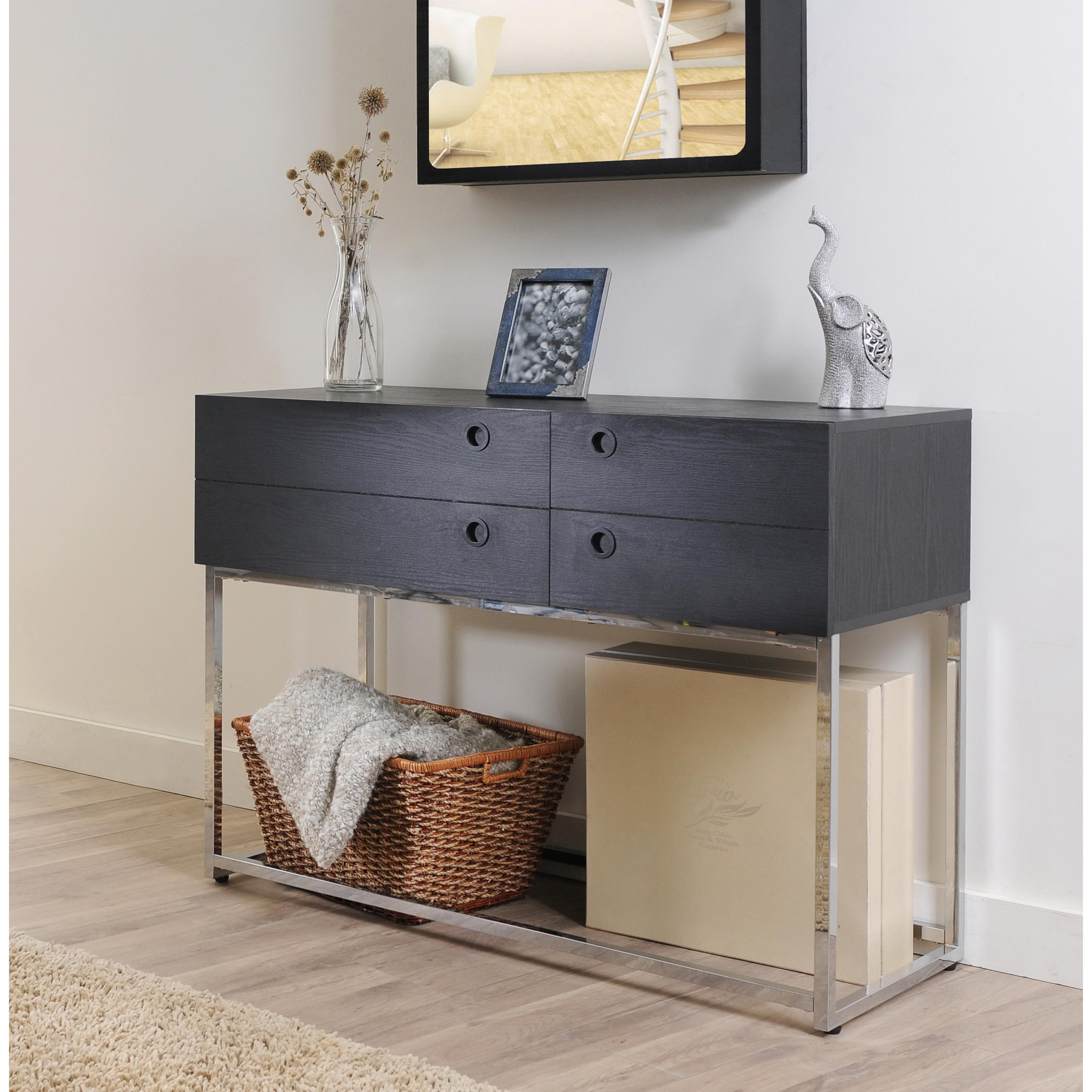 Trend Contemporary Console Table Drawers Best
