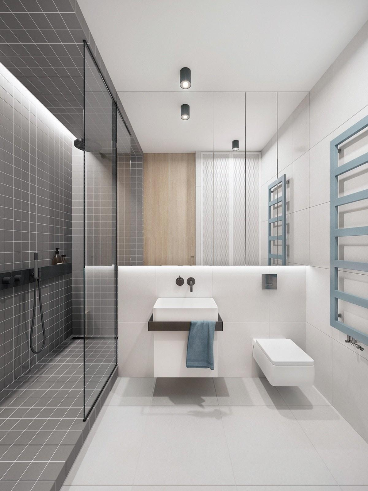 Trendy Bathroom Designs Combined Modern Geometric