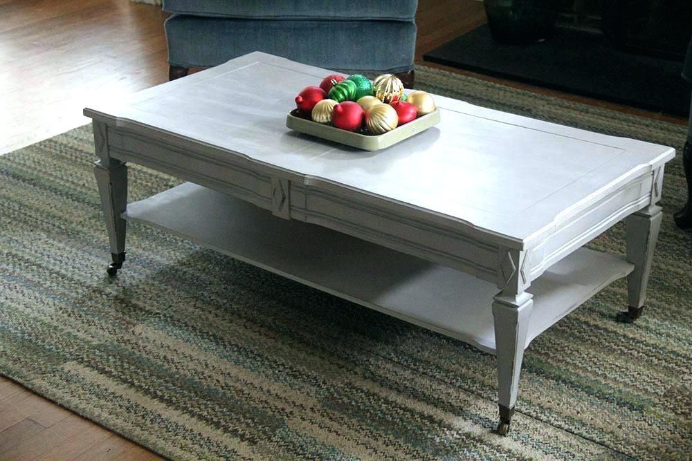 Trendy Chalk Painted Coffee Table Tables