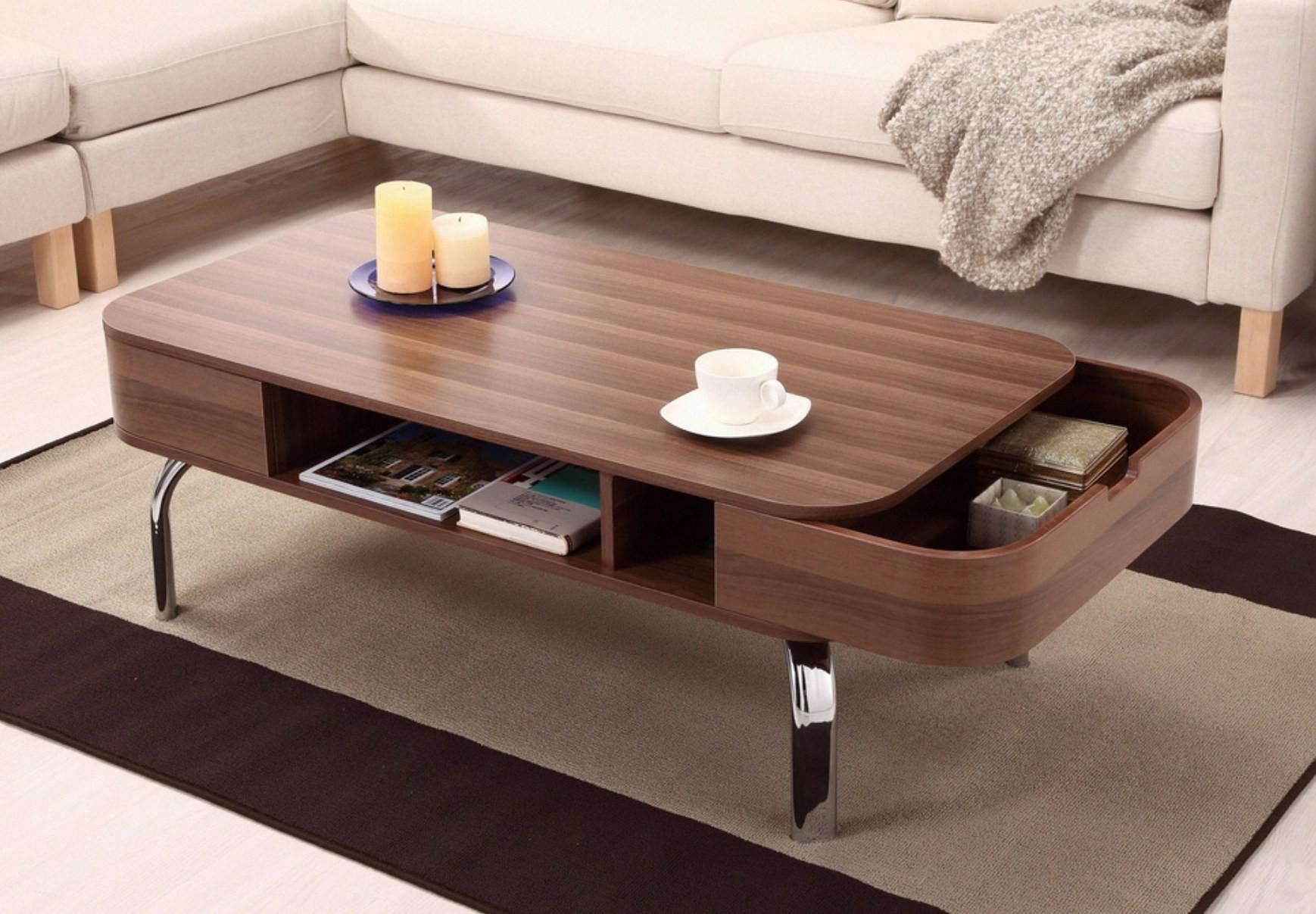 Trendy Coffee Tables Storage Overstock Modern