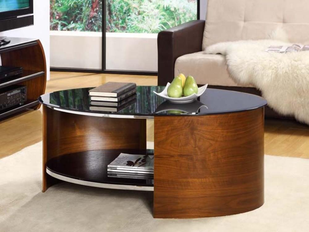 Trendy Curved Wood Coffee Table Desjar Interior