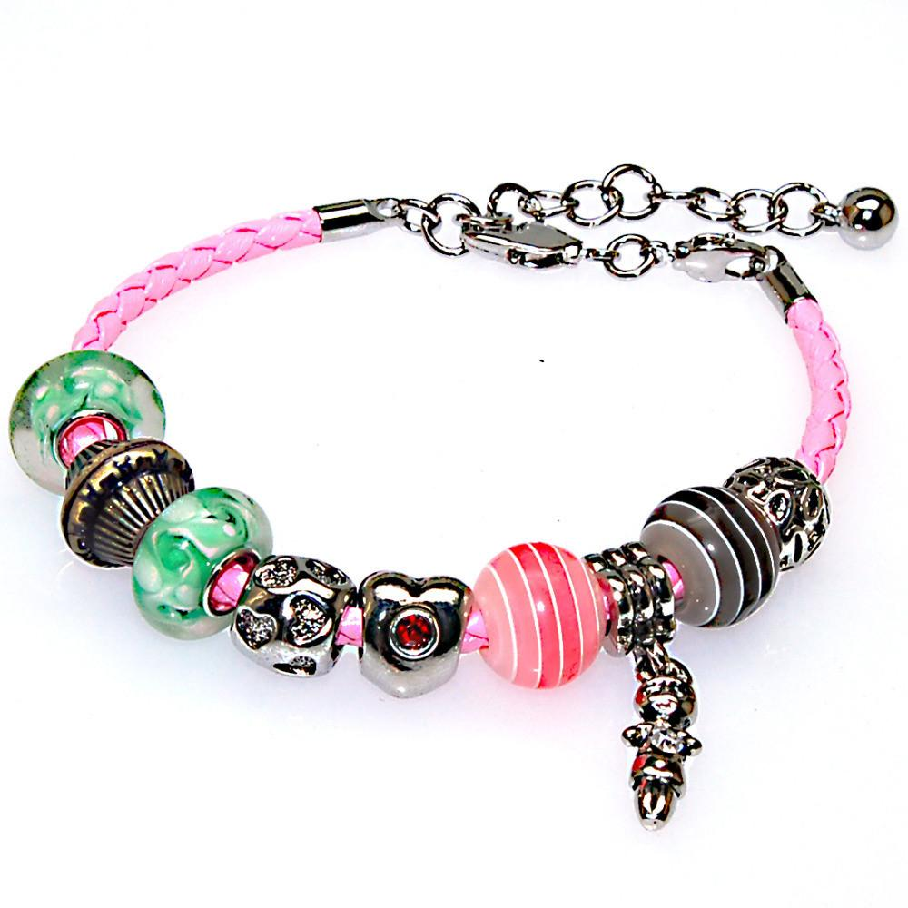 Trendy European Charm Bracelet Interchangeable Diy