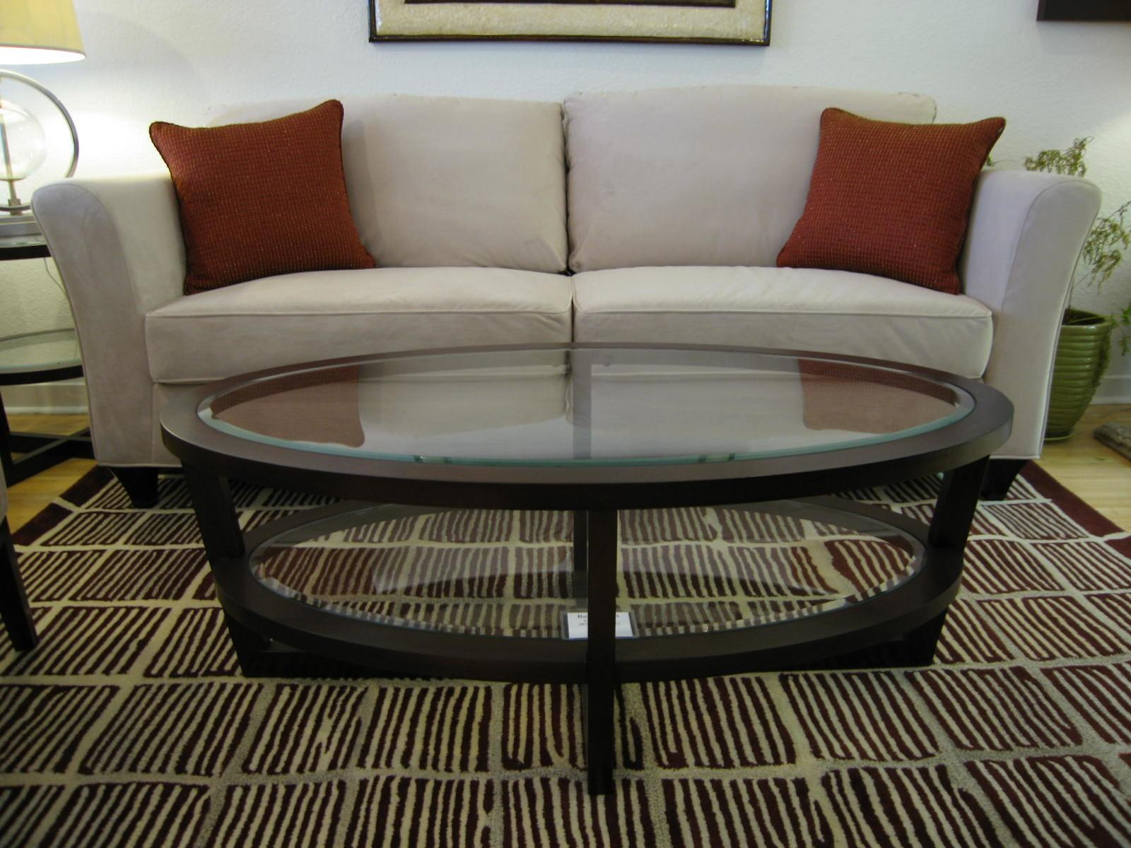 Trendy Modern Glass Oval Coffee Table Home Design Ideas