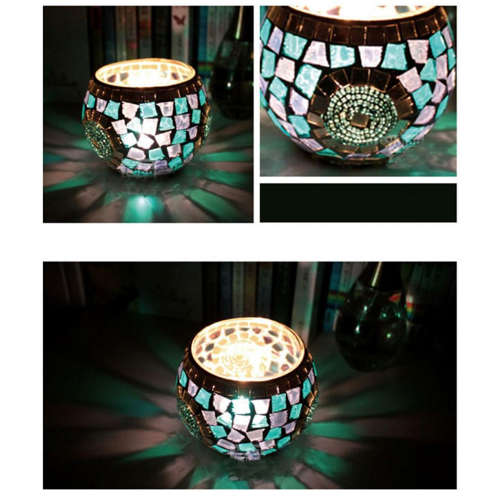 Trendy Mosaic Glass Candle Holder Star Tealight