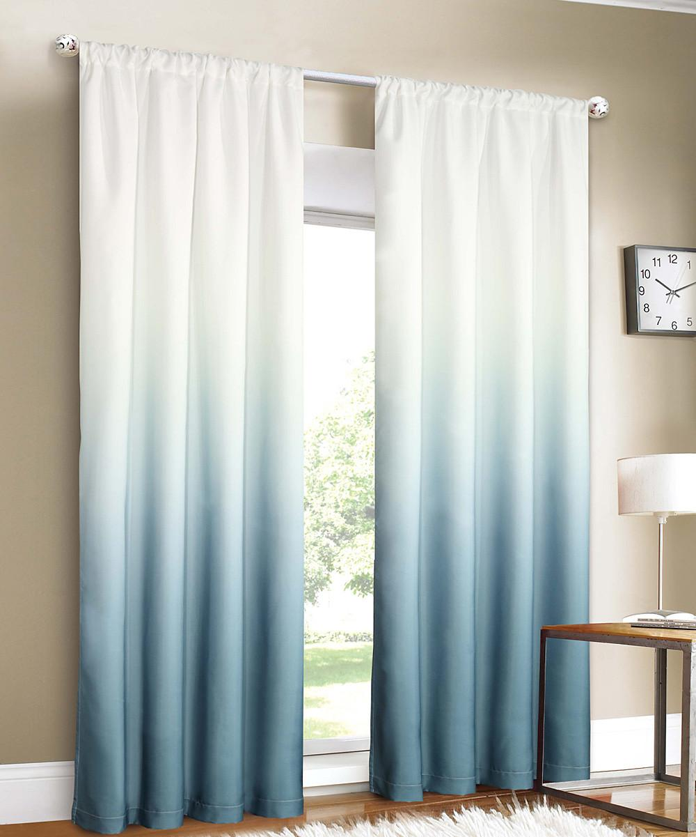 Trendy Ombre Curtains Cold Warm Neutral Hues