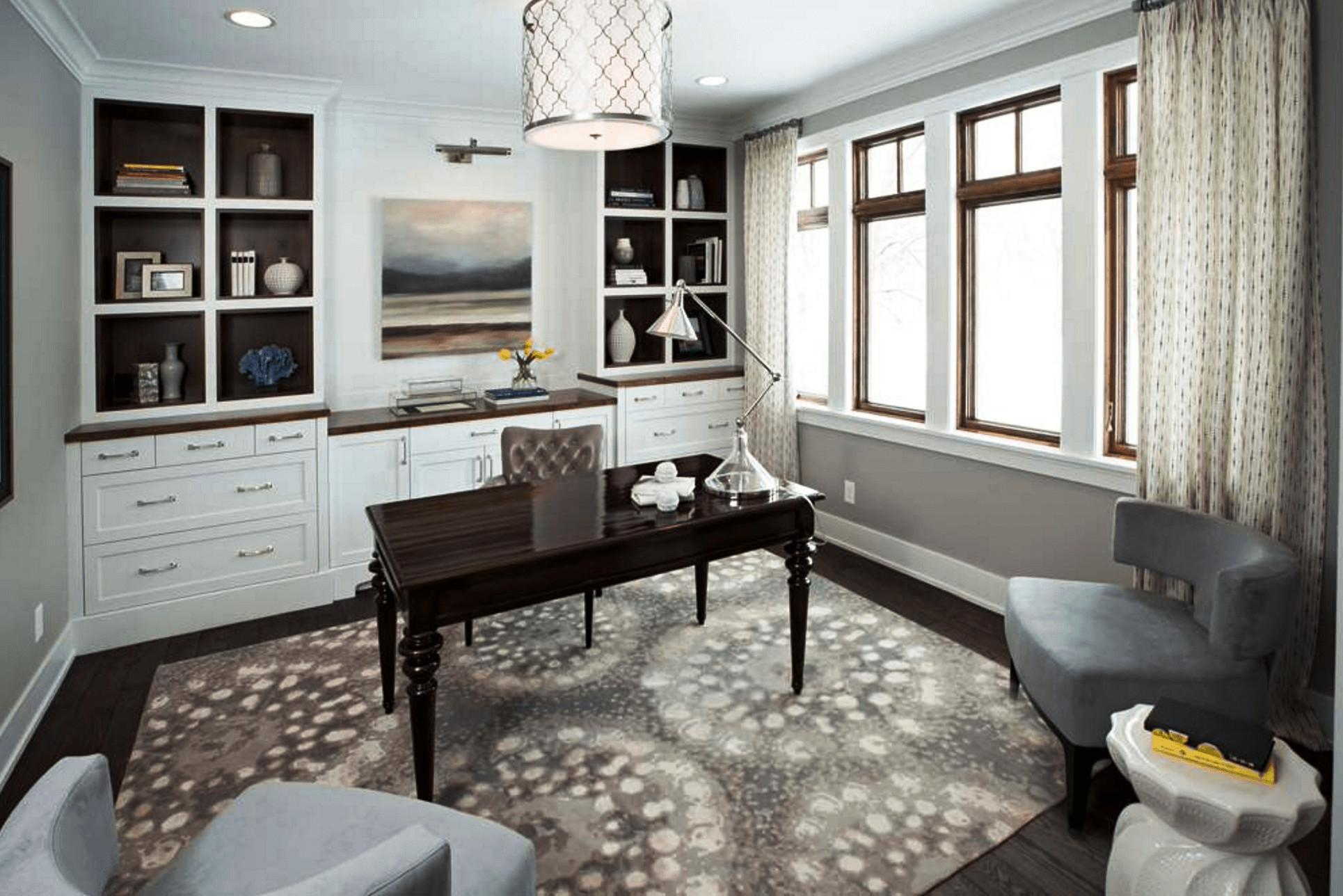Trendy Transitional Home Office Room Design Ideas