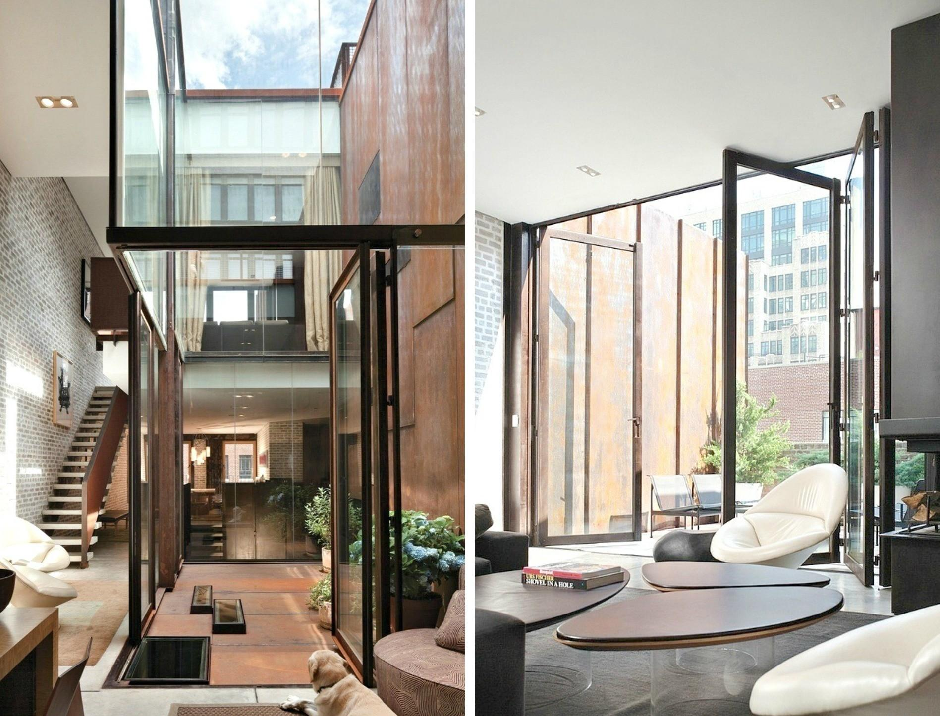 Tribeca Inverted Warehouse Townhouse Concrete Glass