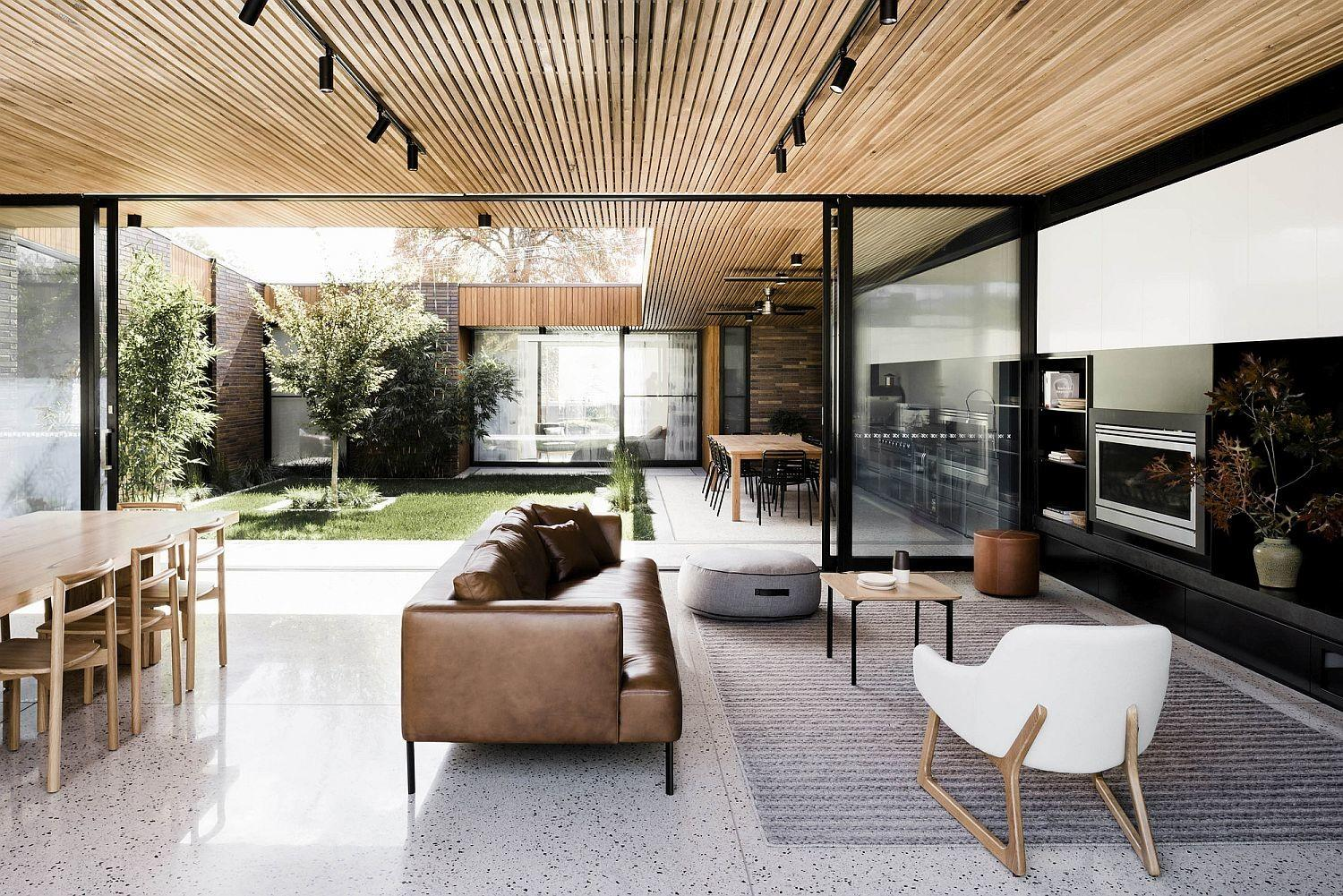 Trio Tranquil Yards Shape Contemporary Aussie House