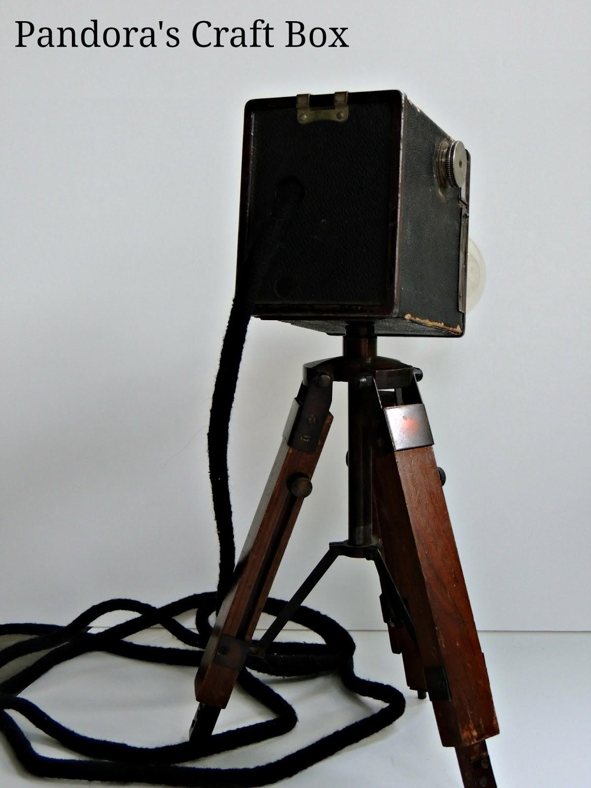 Tripod Lamp Vintage Camera Diy