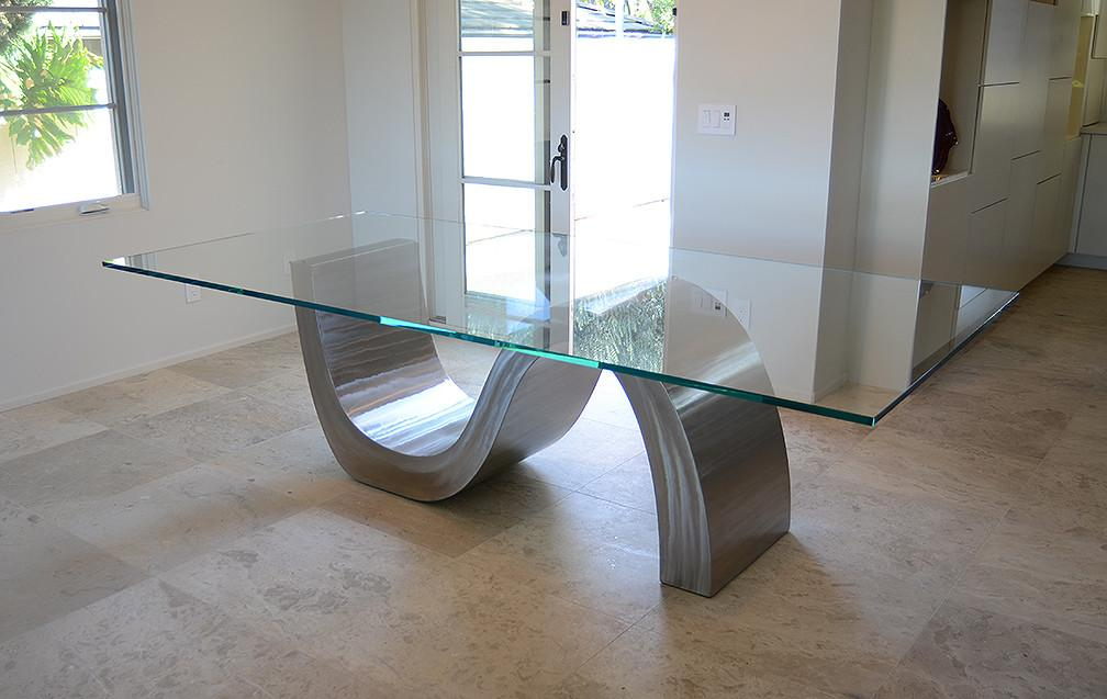 Triumphant Table Stainless Steel Dining Sculptor