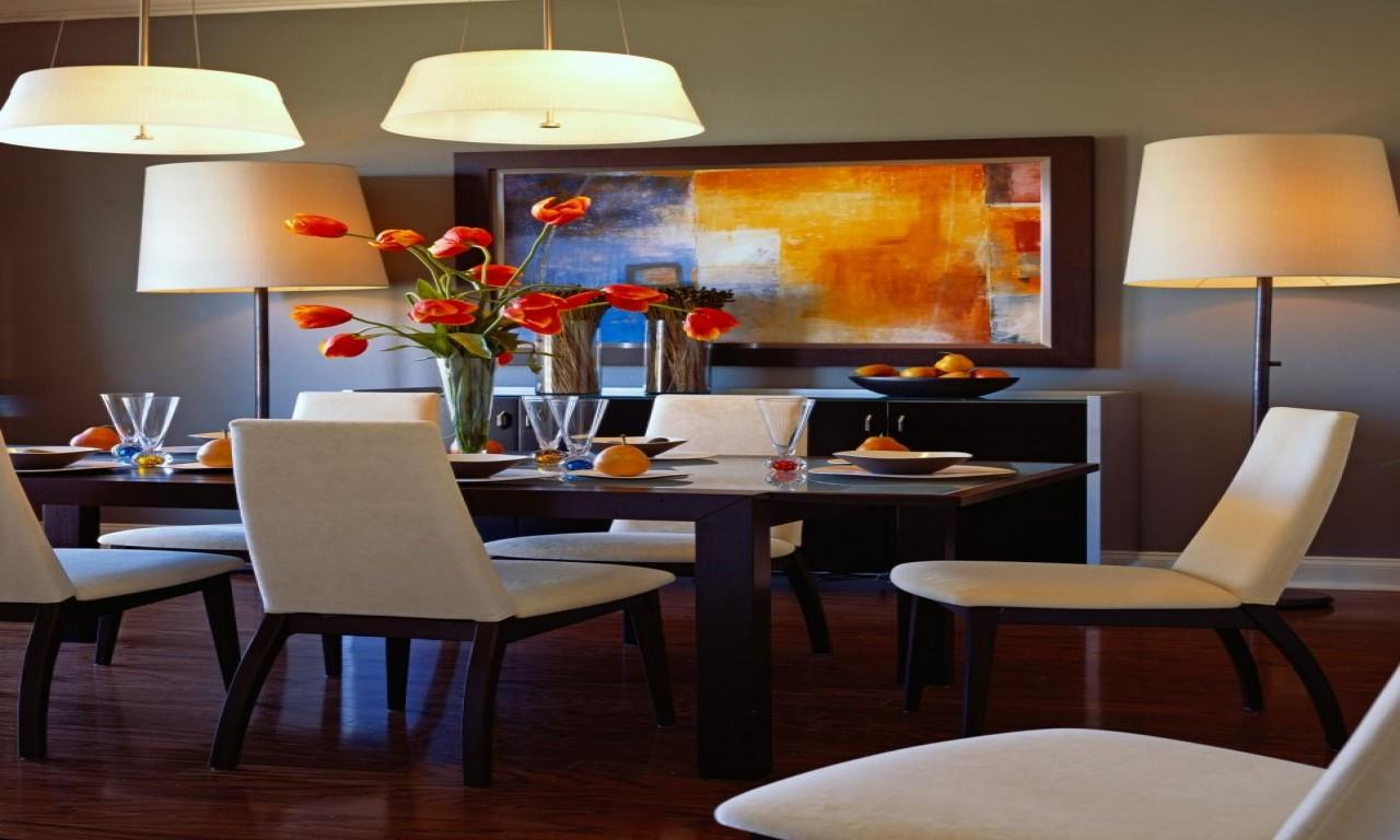 Tropical Dining Wall Color Small Room Decorating