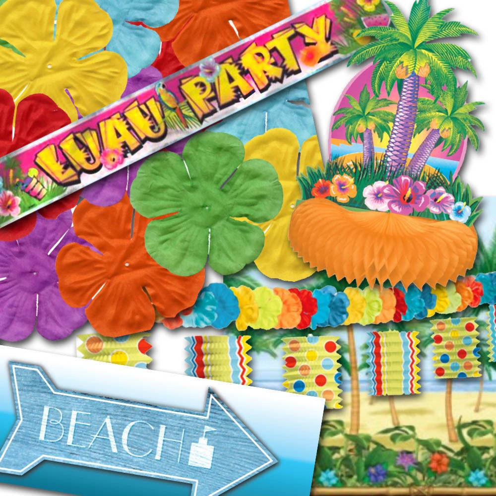 Tropical Luau Caribbean Themed Party Decorations One