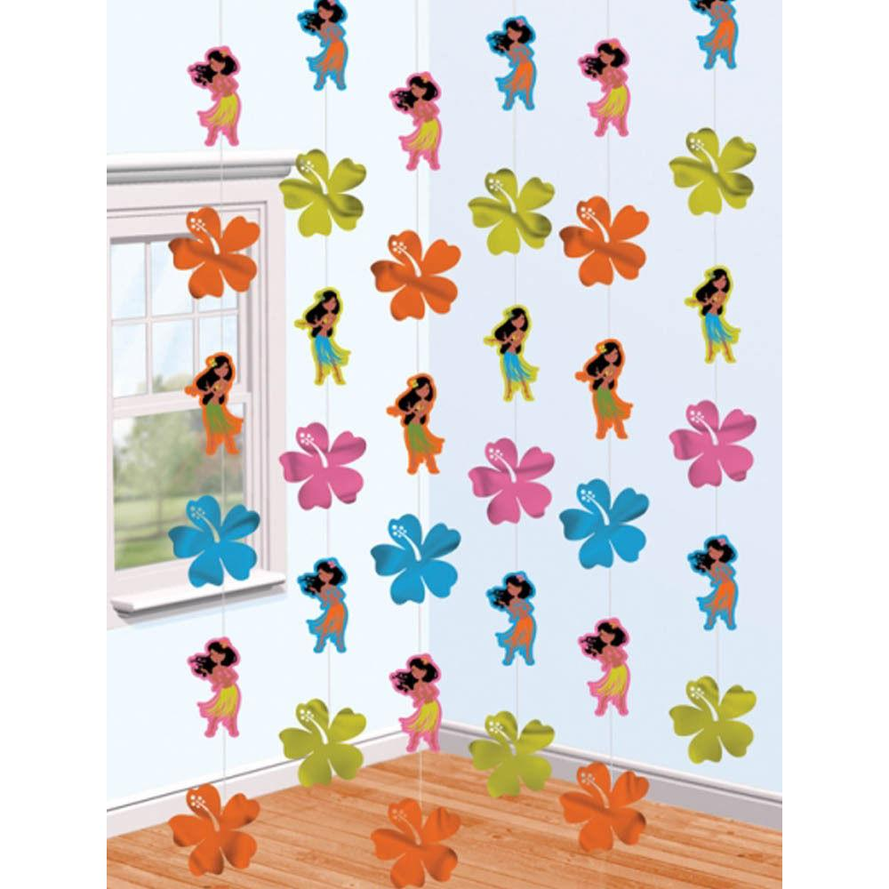 Tropical Luau Hula Girl 7ft Party String Decorations