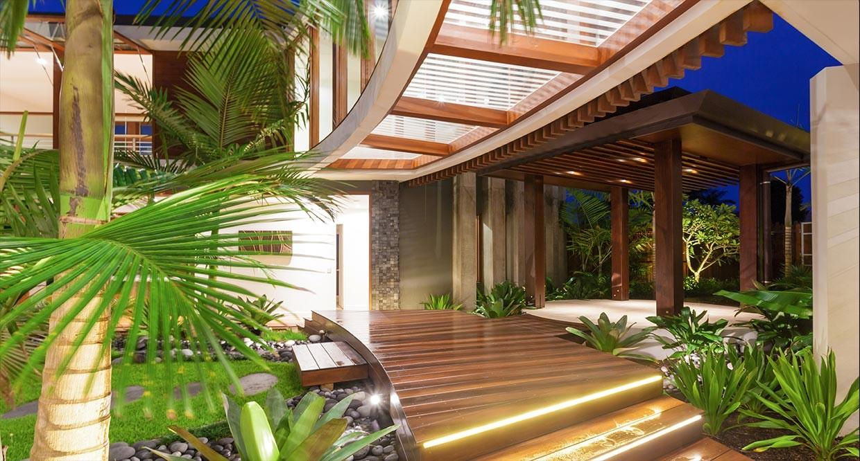 Tropical Style House Plans Contemporary Dream Houses