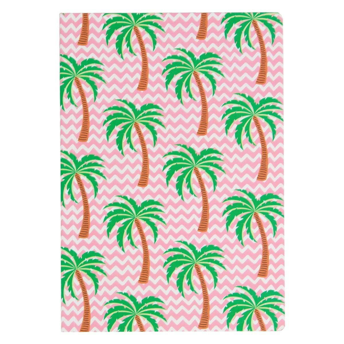 Tropical Summer Palm Tree Notebook