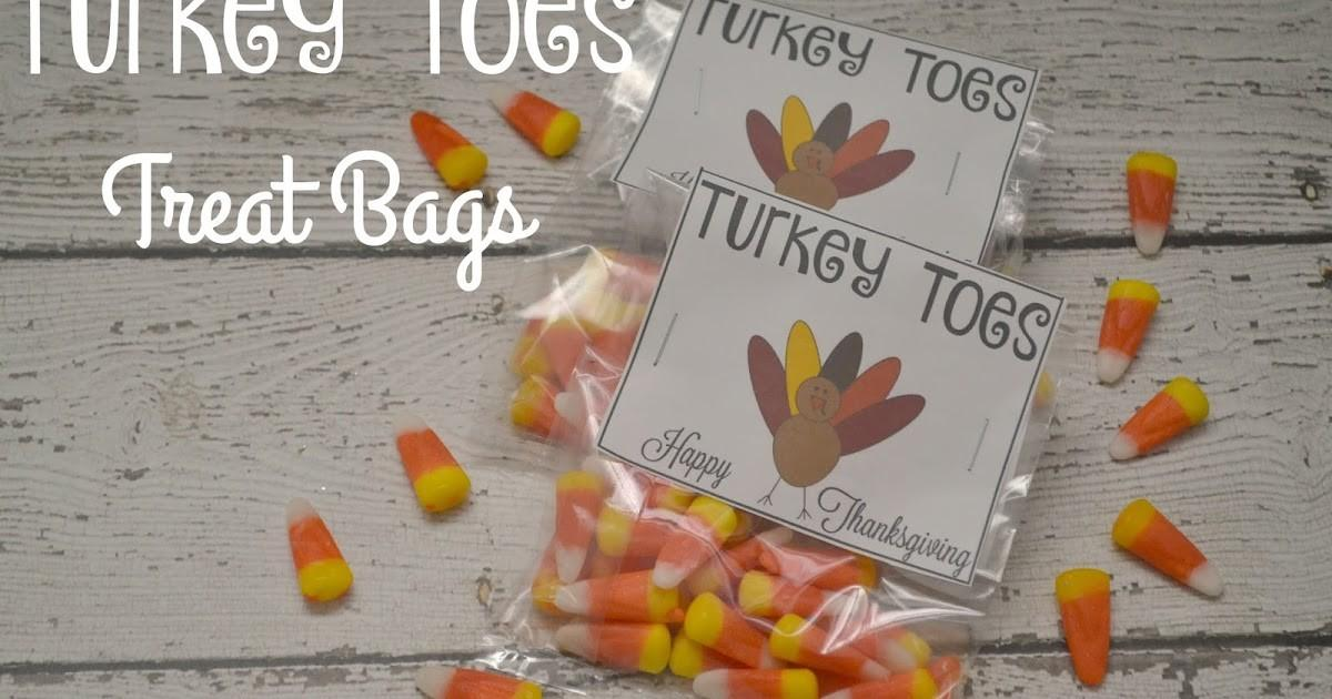Turkey Toes Treat Bags Printable Building Our Story