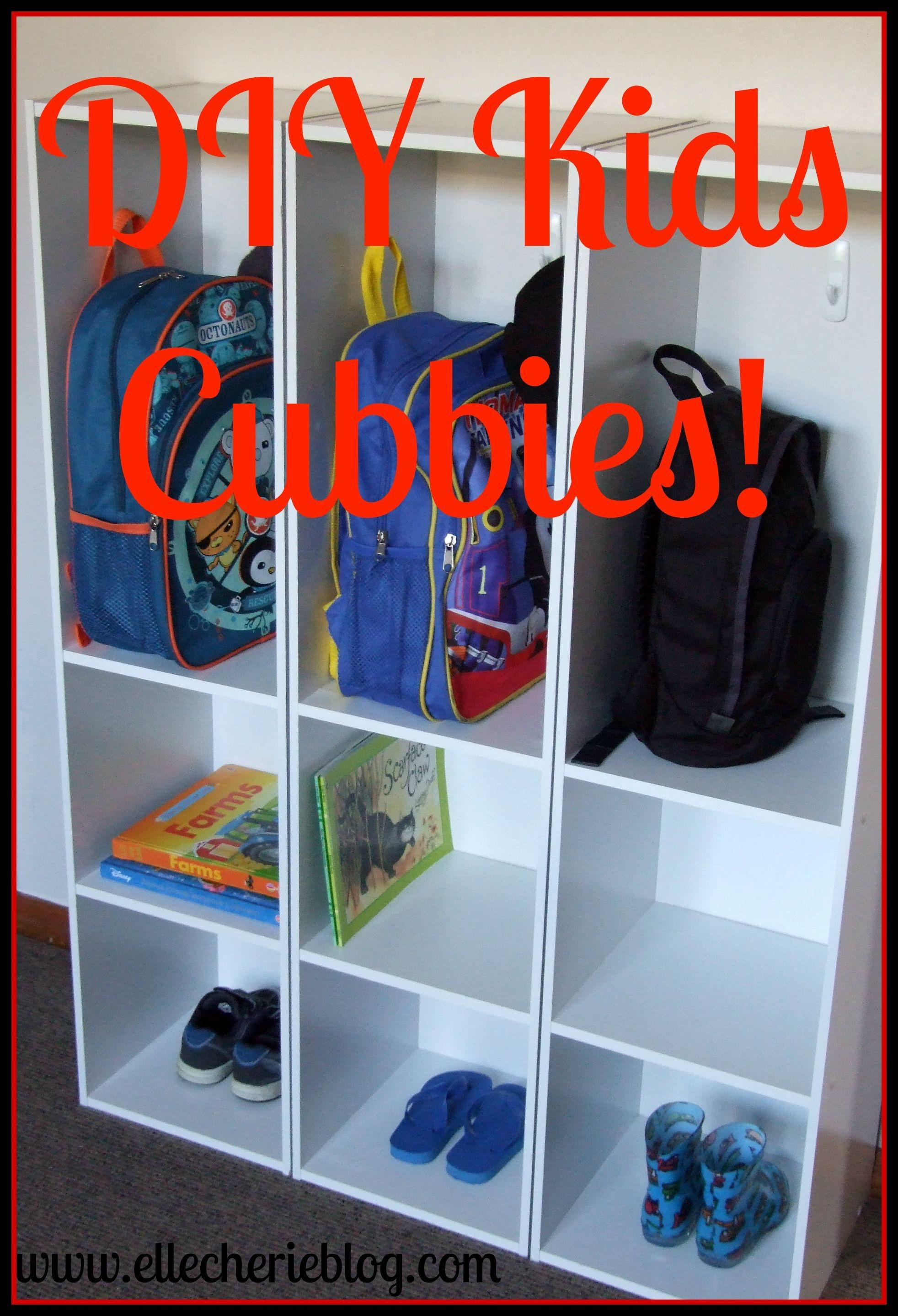 Turn Bookshelves Into Cubbies All Yourself Elle Cherie