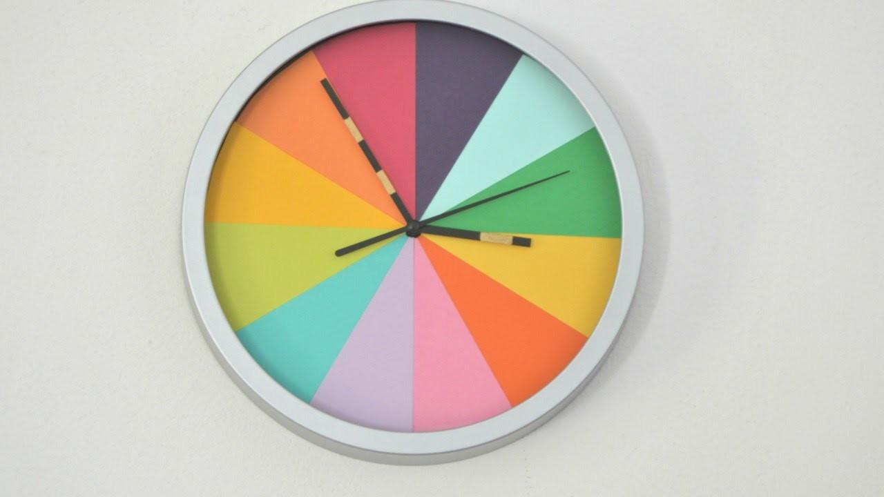 Turn Boring Clock Into Colorful Diy Home