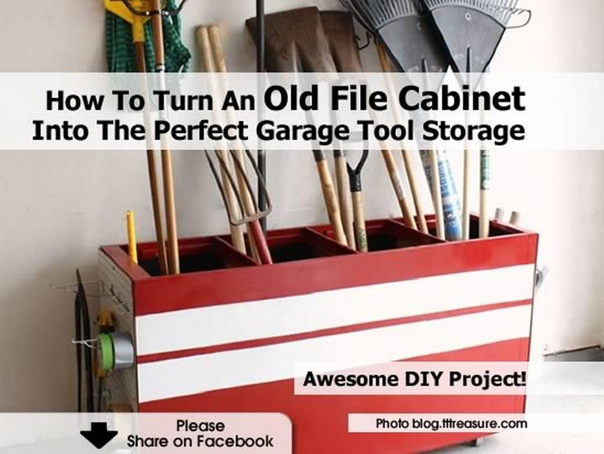 Turn Old Cabinet Into Perfect Garage