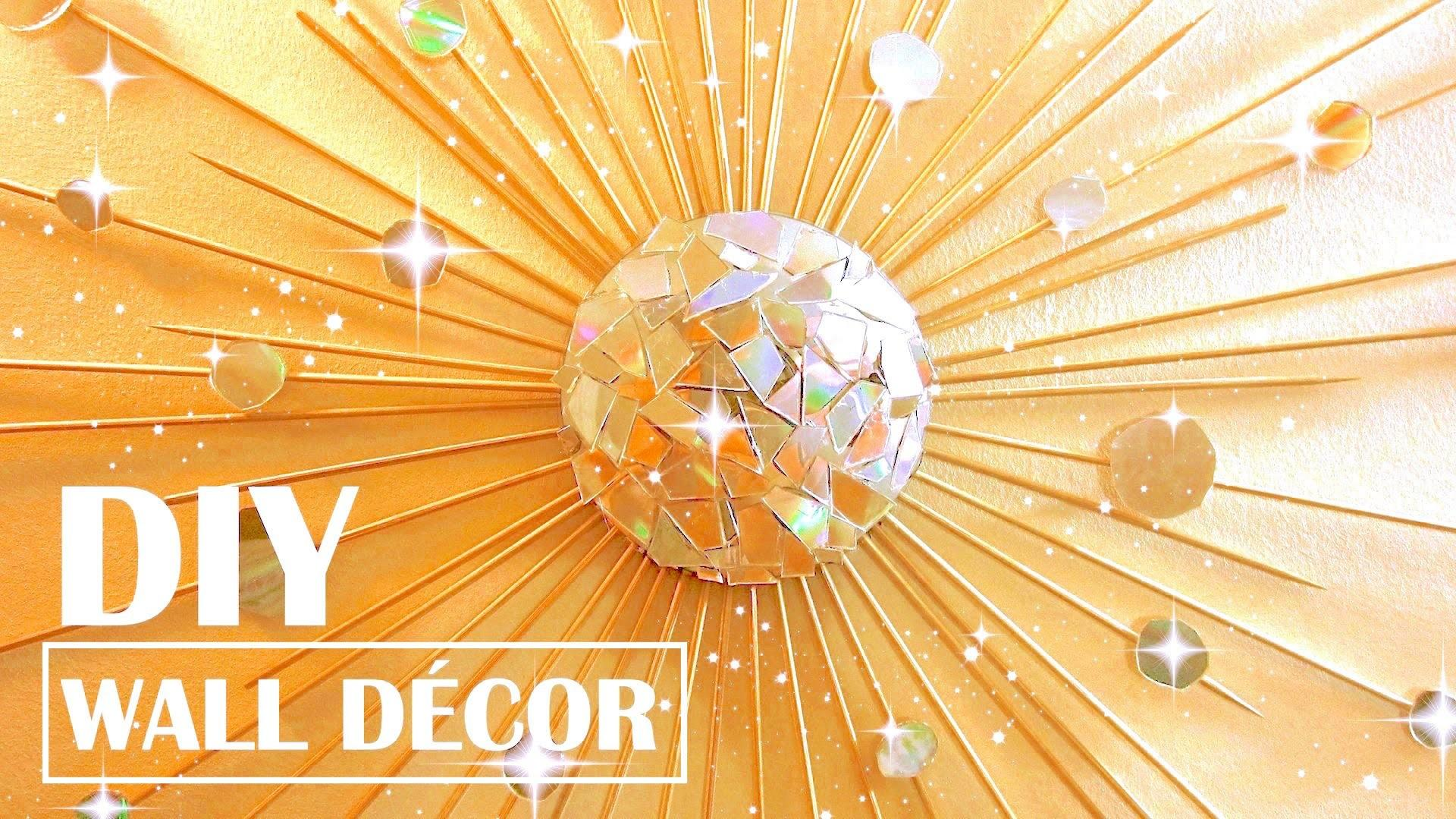 Turn Old Cds Into Wall Decor Diy Starburst Mirror Room