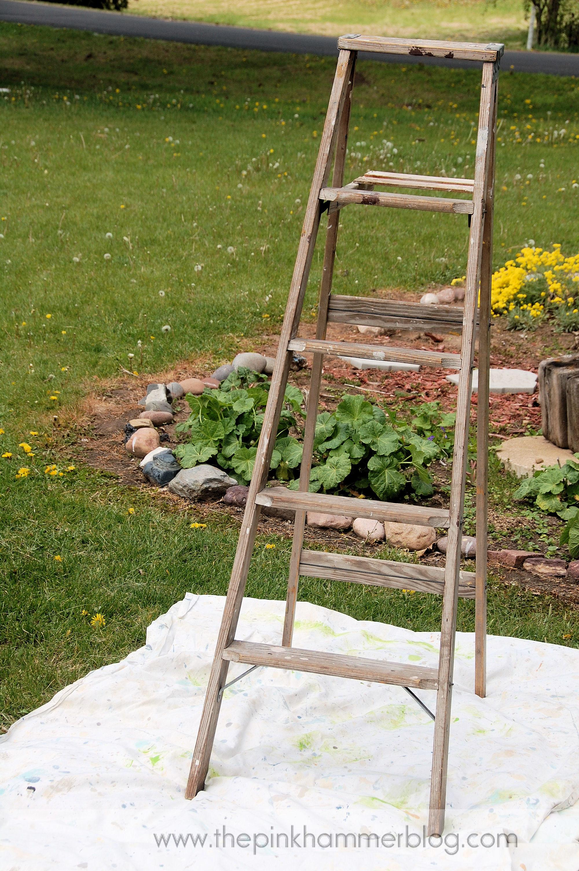 Turn Old Ladder Into Beautiful Plant Stand