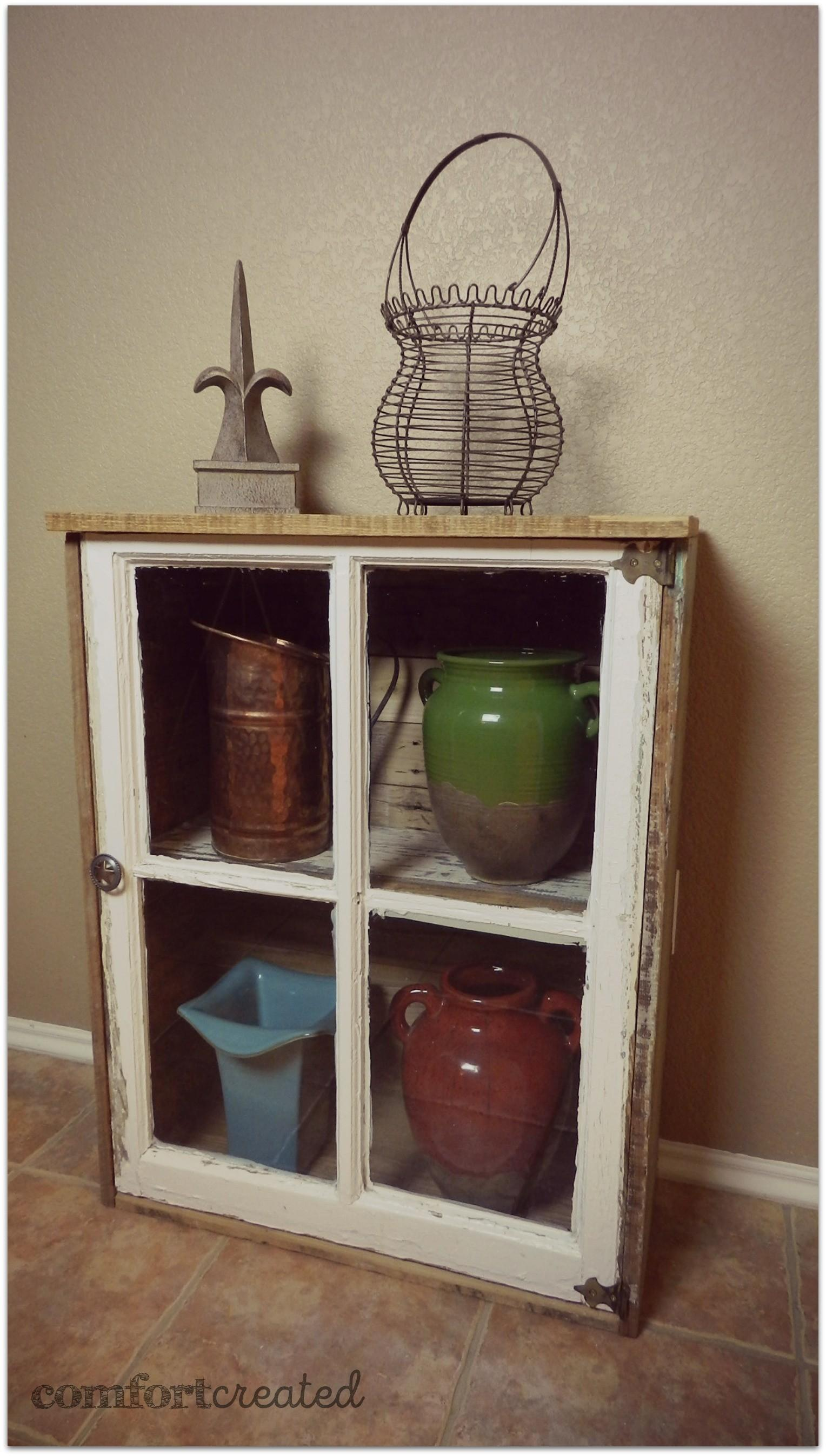 Turn Old Window Into Cabinet Comfort Created