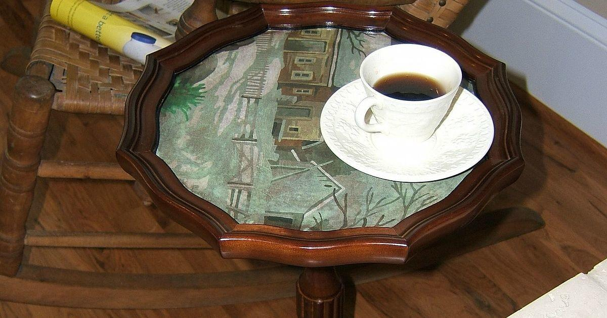 Turn Vintage Paint Number Into Table Top Easy