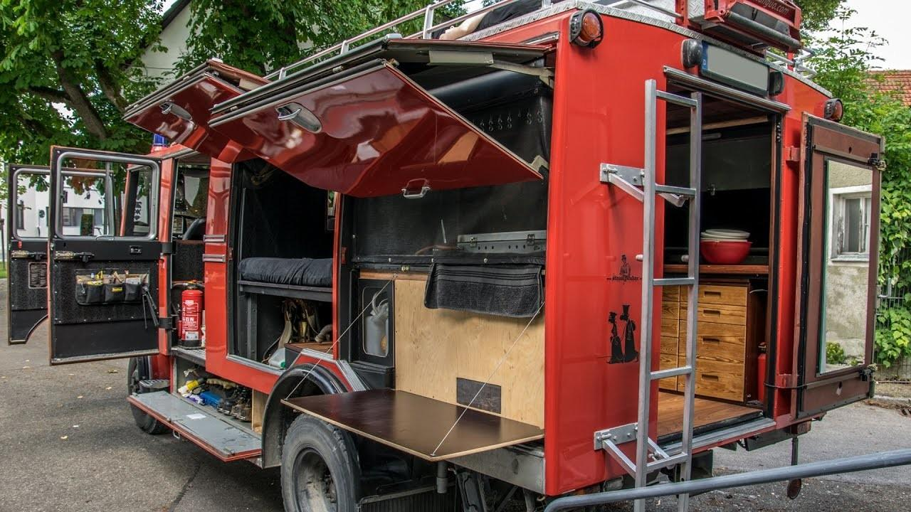 Turning Firetruck Into Camper Lp608