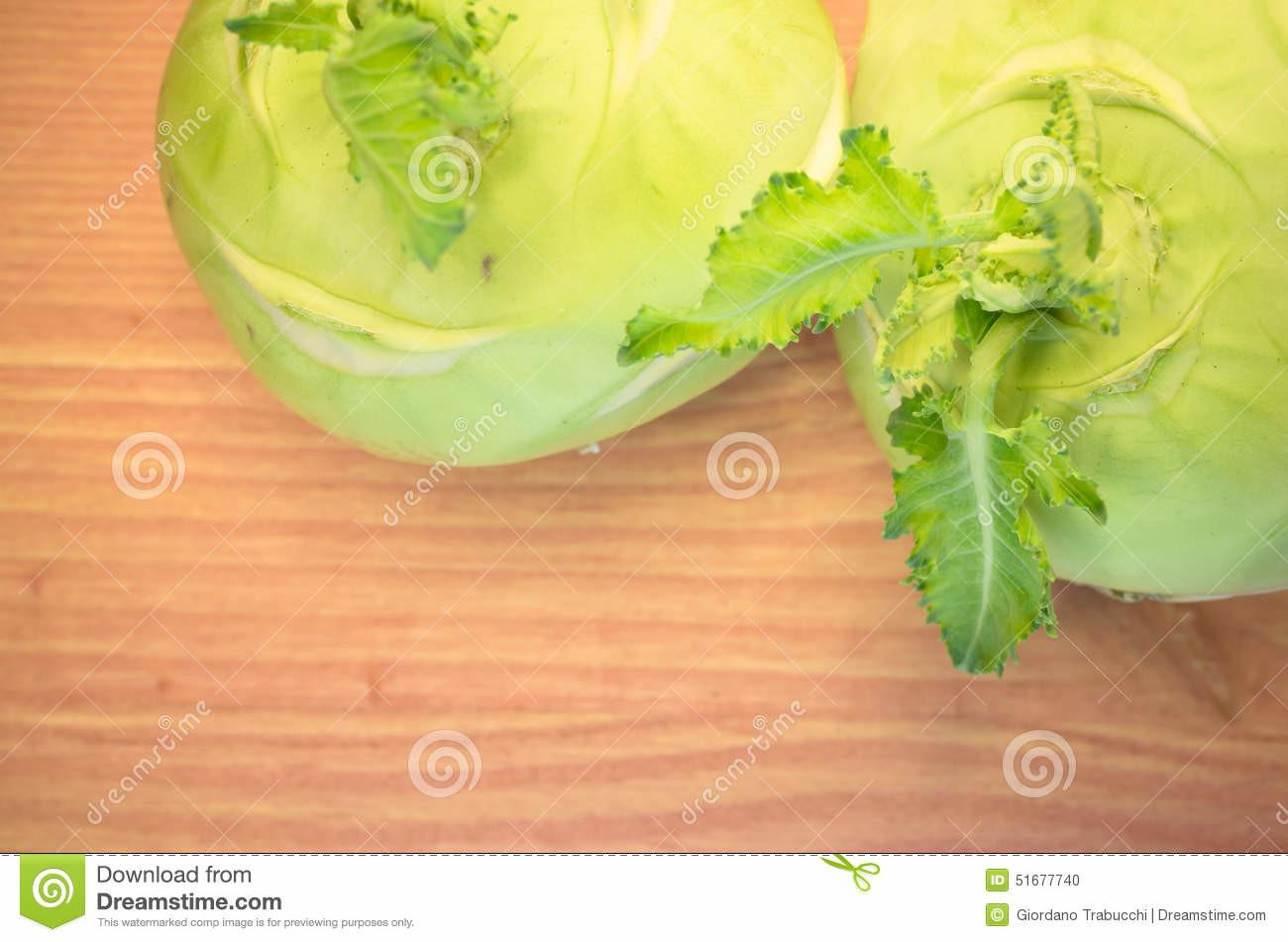 Turnip Cabbage Wood Surface Stock