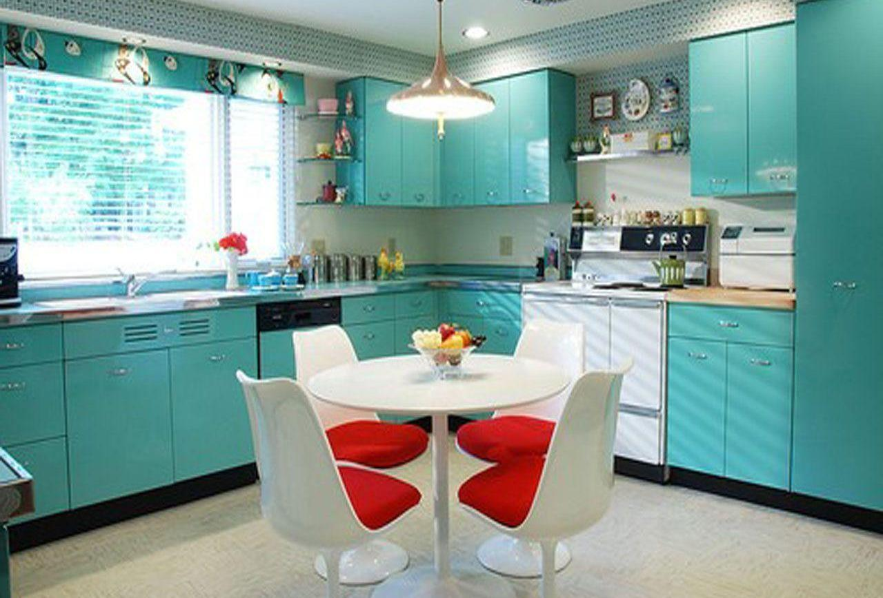 Turquoise Red Kitchen Decor