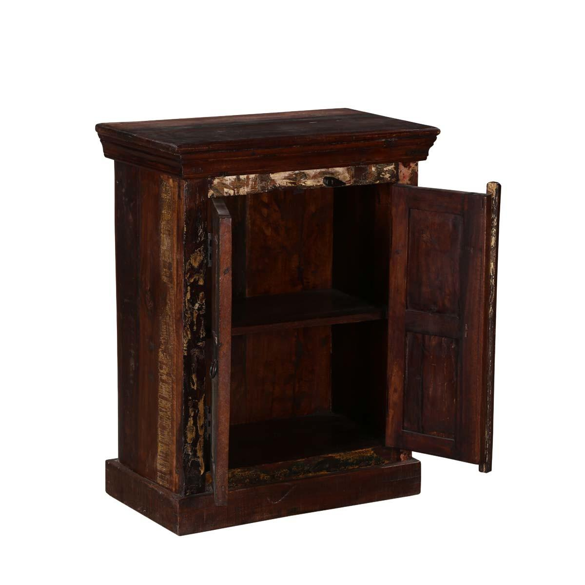 Turquoise Trail Rustic Reclaimed Wood Nightstand Table