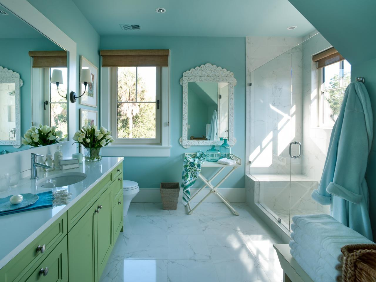 Turquoise Wall Color Sets Scene Interior Design