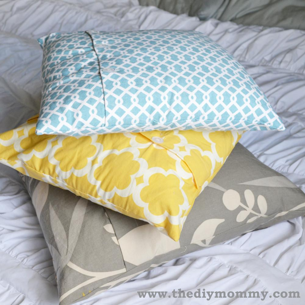 Tutorial Make Diy Throw Pillow Cover