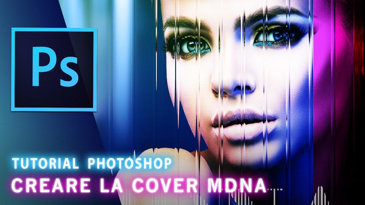 Tutorial Photoshop Effect Fragmented Mirror Cover Mdna