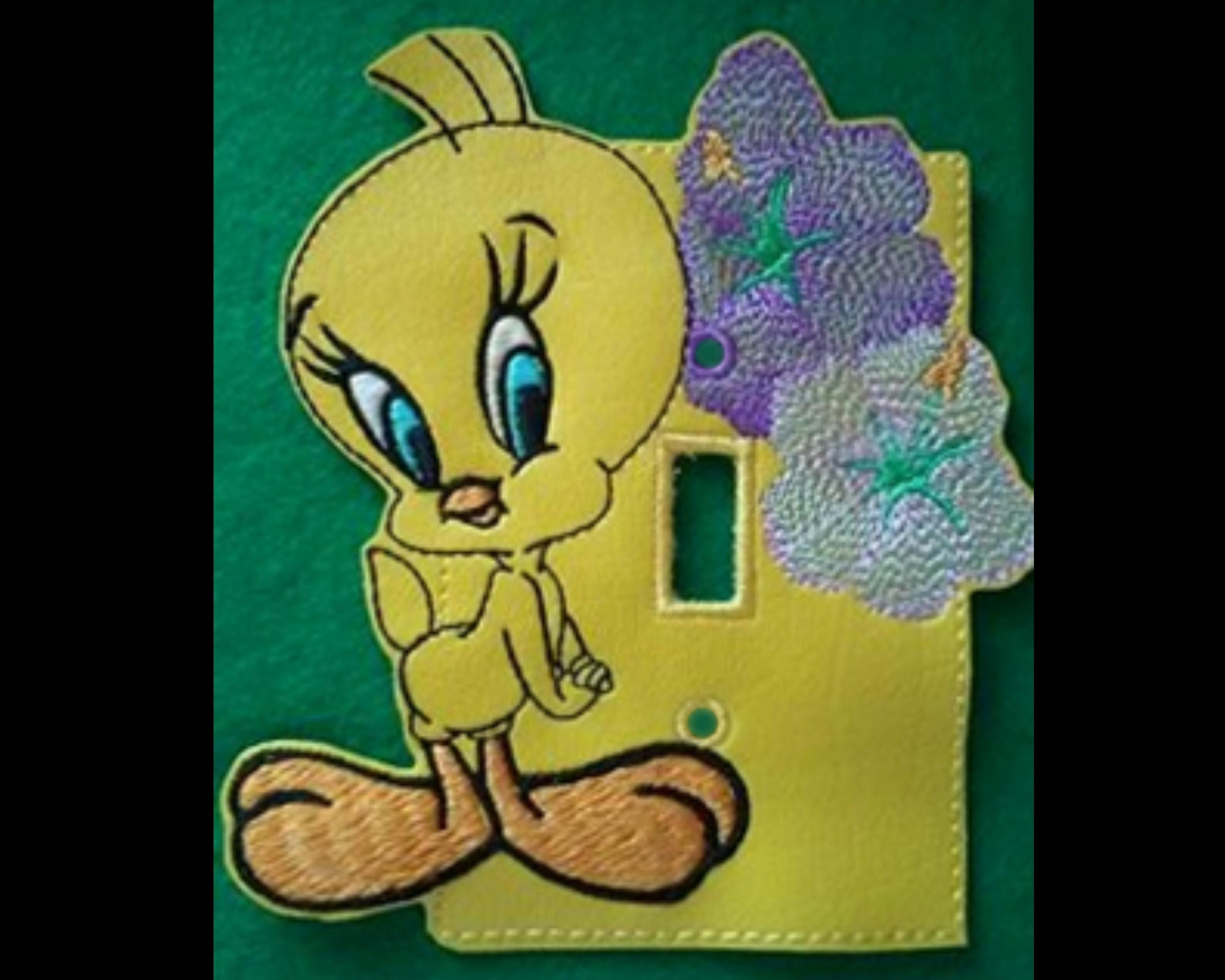 Tweety Light Switch Cover Machine Embroidery Pattern