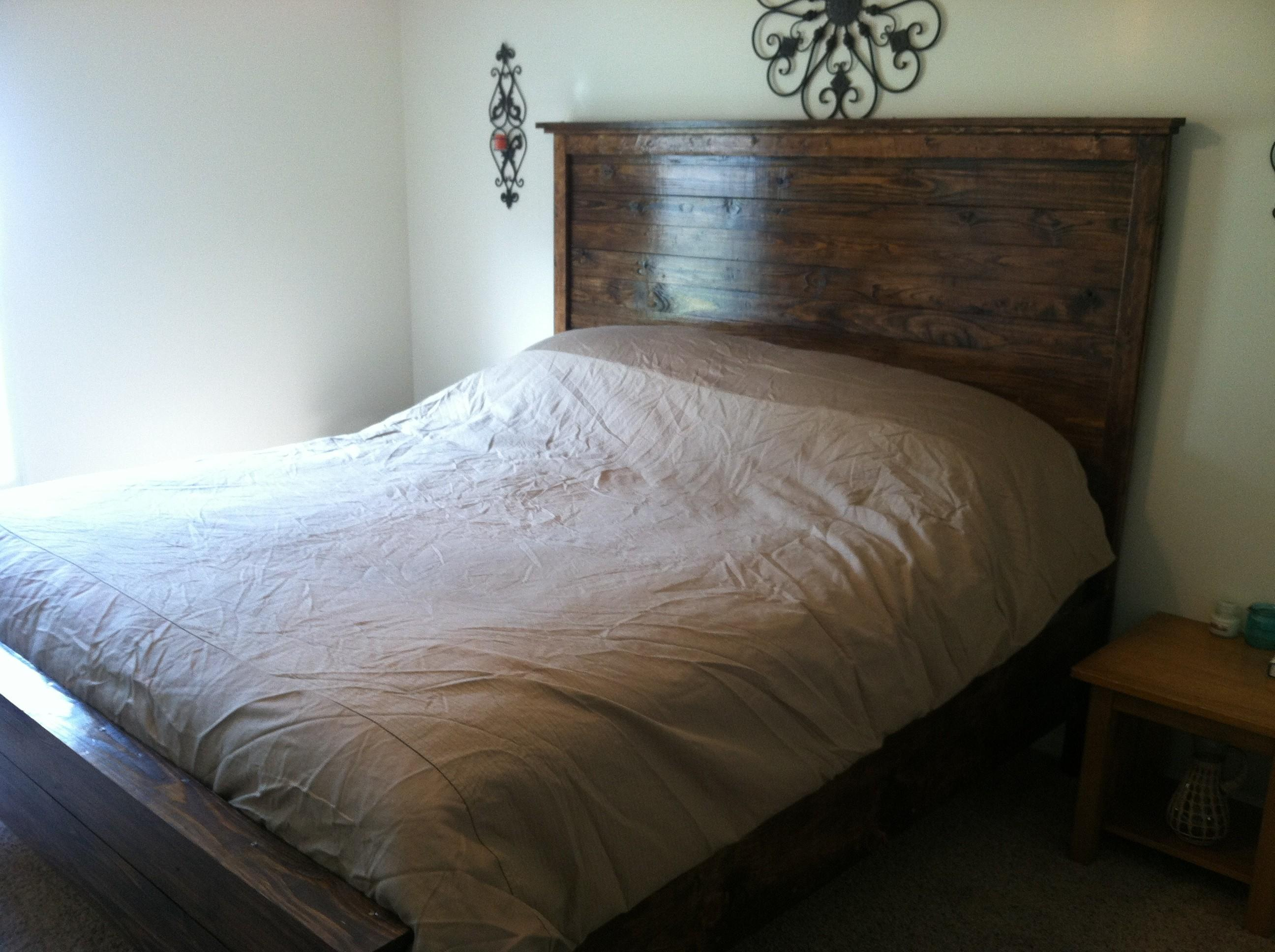 Twin Beds Cheap Simple Diy Rustic Bedheads Wooden Bed