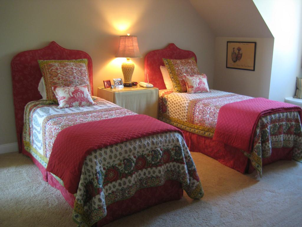 Twin Beds Exotic Flair Favorite Guest Room