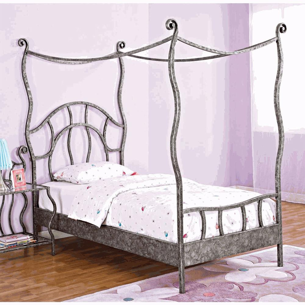 Twin Metal Canopy Bed Curtains Curtain Menzilperde