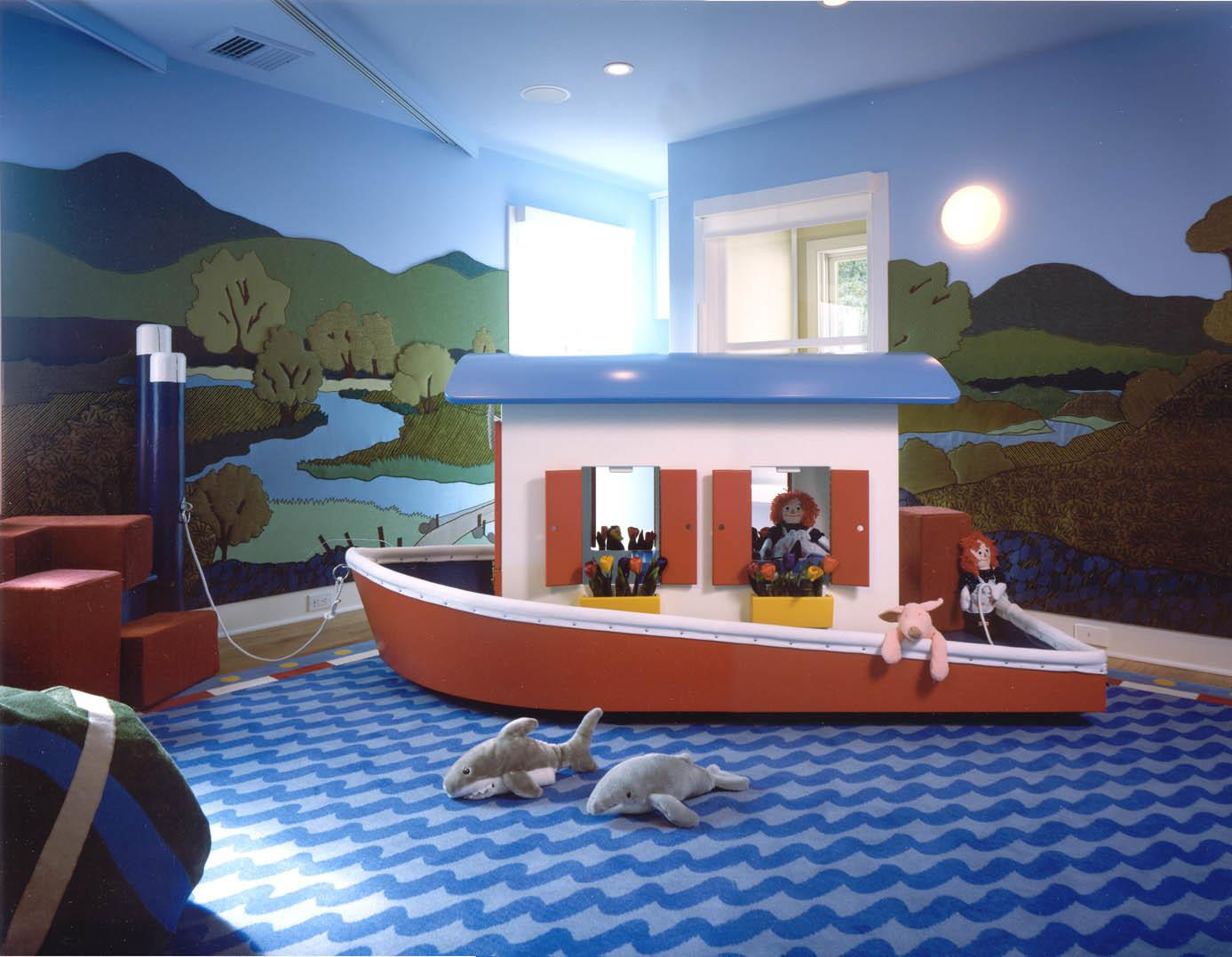 Twining Design Seascape Child Room Boat Wall Murals