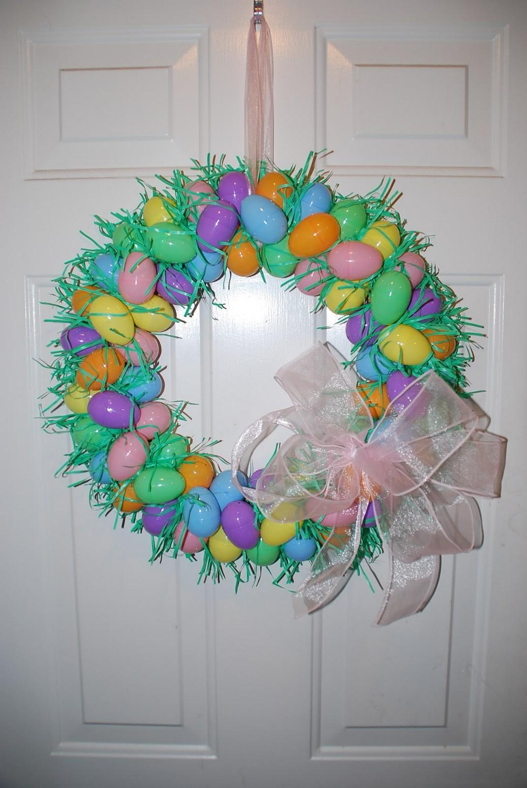 Two Plus Jilly Easter Egg Wreath