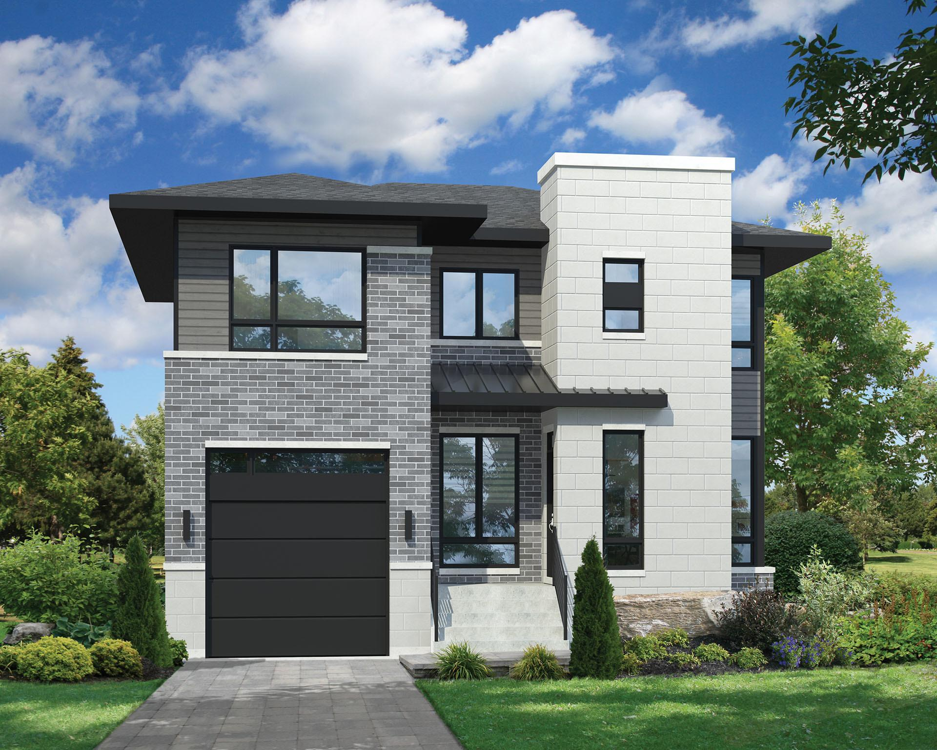 Two Story Contemporary House Plan Pm 2nd Floor