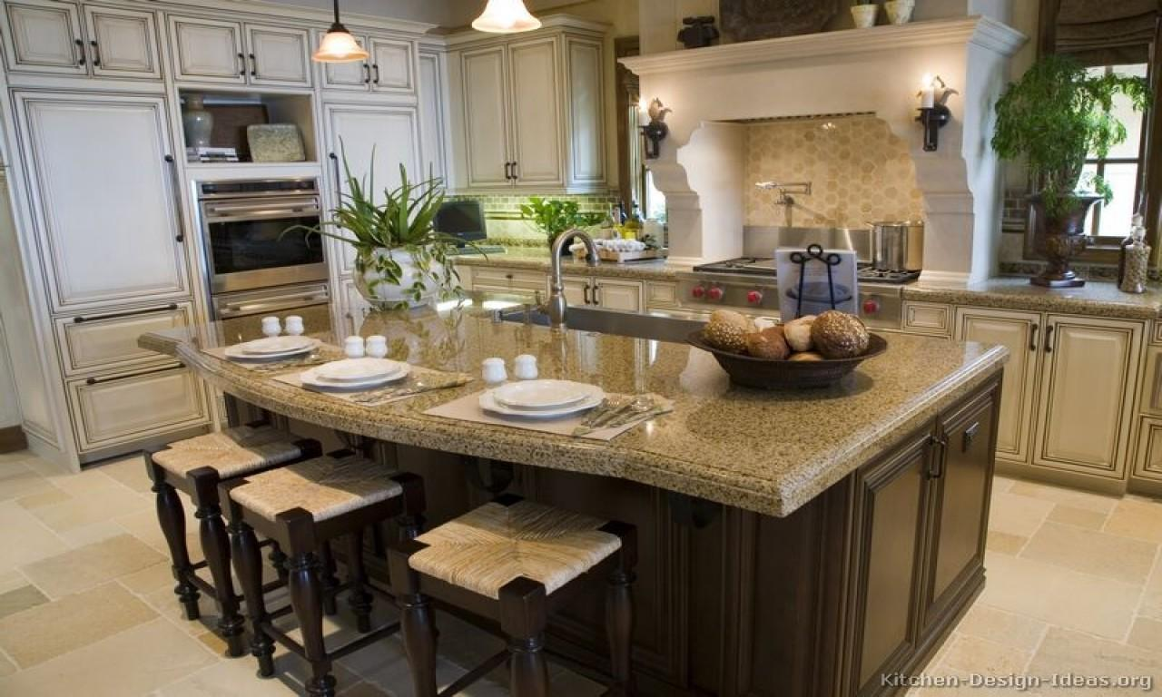 Two Tone Kitchen Cabinets Gourmet Design Ideas
