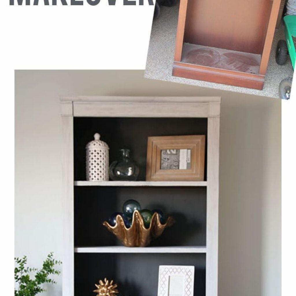 Two Toned Curbside Bookcase Makeover Easy