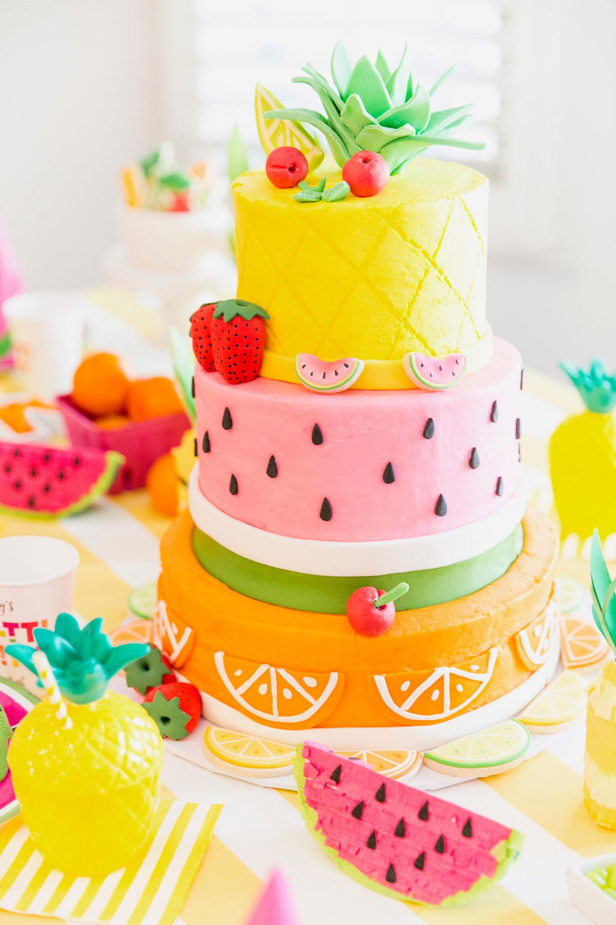 Two Tti Fruity Birthday Party Blakely Turns Pizzazzerie