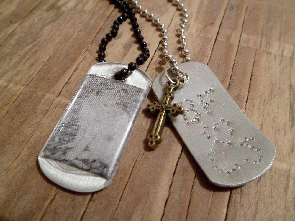 Two Ways Personalize Dog Tag Pendant Jewelry