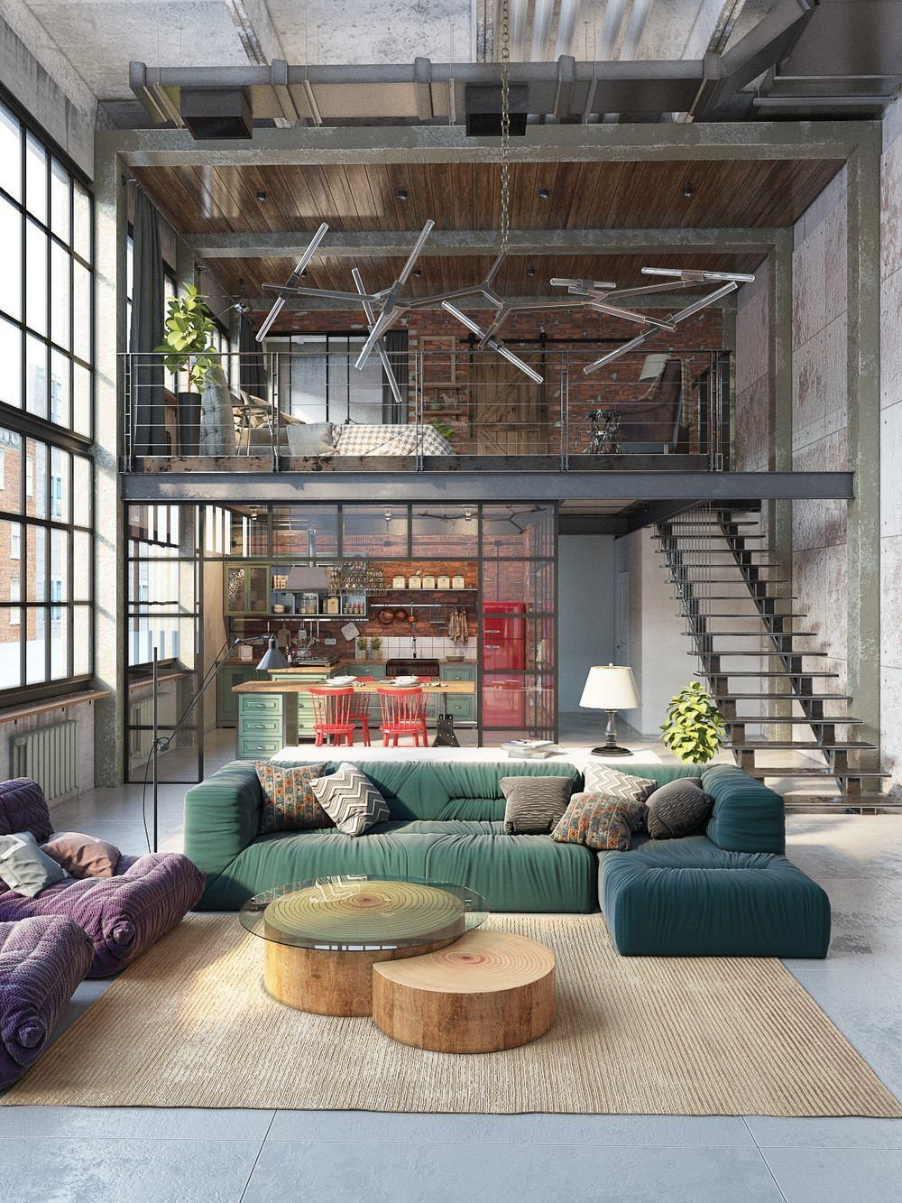 Types Industrial Loft Apartment Designs Which Applied